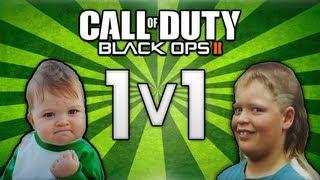 BO2: 8 Year Old 1v1's Redneck Kid! (Headshot Trolling)