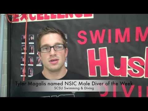 St. Cloud State men's swimming and diving Tyler Magalis Interview