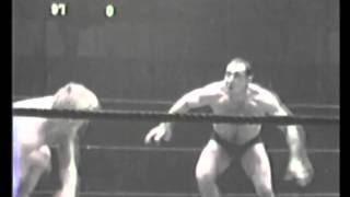 Johnny Valentine vs Antonino Argentina Tony Rocca 1950's professional wrestling match