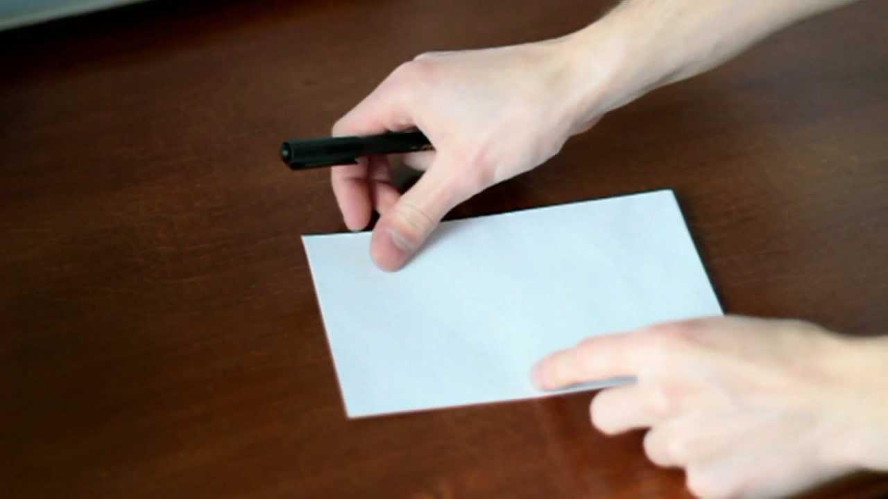 jak zrobić kopertę z kartki A4 - tradycyjną normalną - YouTube