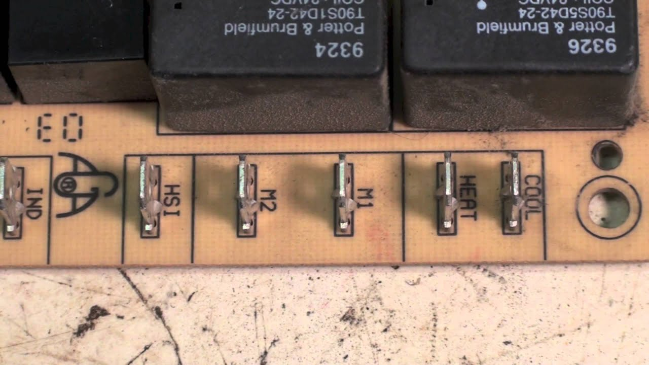 How To Change The Fan Motor Speed On A Gas Furnace Youtube Rudd Electrical Schematic