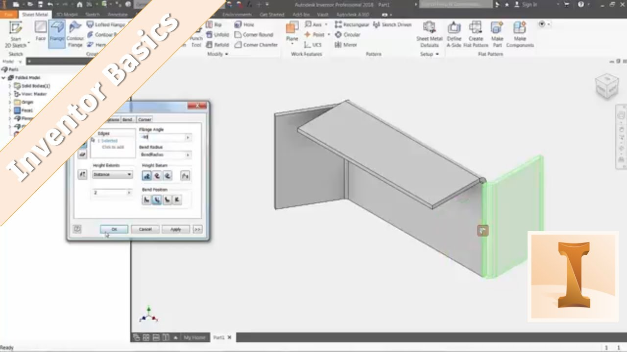 Inventor 101 Sheet Metal Basics Youtube