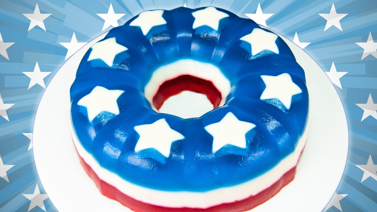 Red White Blue Cake Jello