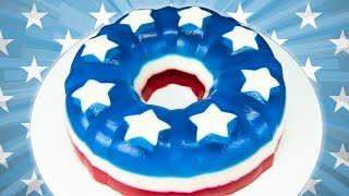4th Of July Jello Cake (red, White And Blue) From Cookies Cupcakes And Cardio