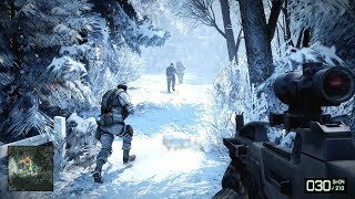 Very Cool Winter Stealth Mission from Battlefield Bad Company 2
