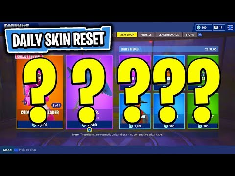 The NEW Daily Skin Items In Fortnite: Battle Royale! (Skin Reset #35)