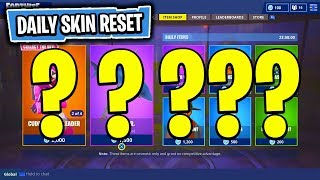 The NEW Daily Skin Items In Fortnite: Battle Royale! (Skin Reset #36)