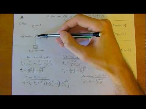 Michelson Morley Experiment & Special Relativity  [Modern Physics: 2nd Year University Tutoring]