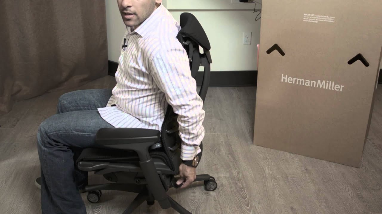 Herman Miller Embody fice Chair Adjustments and Tutorial
