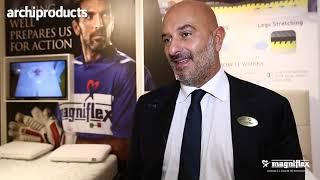 Salone del Mobile 2019 | MAGNIFLEX - Marco Magni presenta i prodotti della linea Magnistretch (ita, eng)