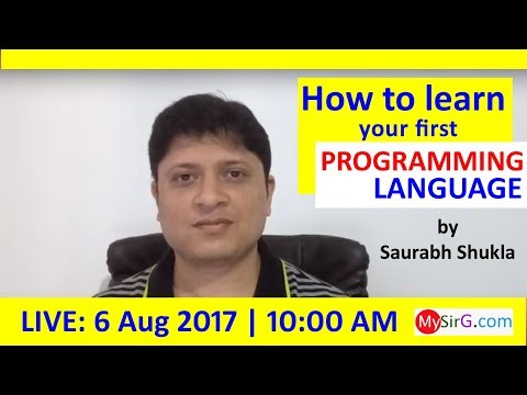 How to learn your first programming language? (in Hindi) | LIVE