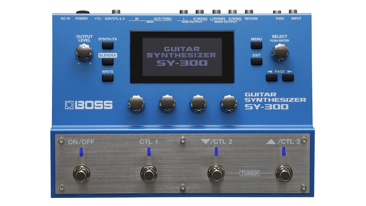 Boss SY-300 Advanced Guitar Synth Pedal | Sweetwater
