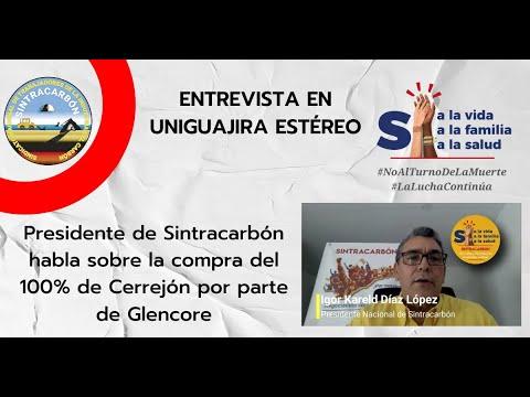 Entrevista a Igor Díaz en Uniguajira Noticias sobre compra del 100% de Cerrejón por Glencore.