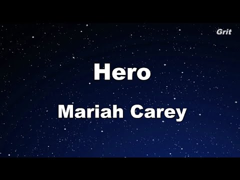 Hero - Mariah Carey Karaoke 【No Guide Melody】 Instrumental