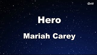 Hero - Mariah Carey Karaoke 【No Guide Melody】 Instrumental