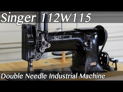Singer 112W115 Double Needle - Needle Feed Industrial Sewing Machine