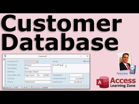 Microsoft Access Customer Database - FULL LESSON