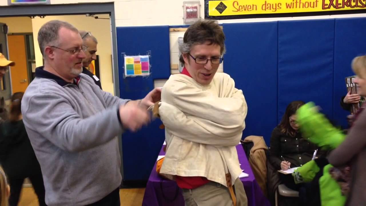 Local Magician Alan Edstrom Escapes From Straight Jacket - YouTube