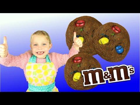 ♡•-recette-cookies-chocolat-m&m's- -facile-et-rapide-•♡