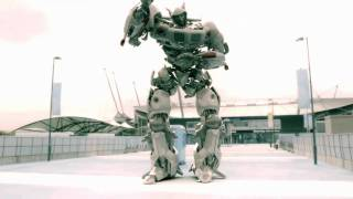 Transformers Jazz- Manchester City Robot - Mavado Gully side Dancing