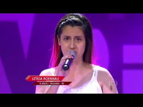 Letícia Roennau canta 'Sorri, Sou Rei' no The Voice Kids - Audições | Temporada 1