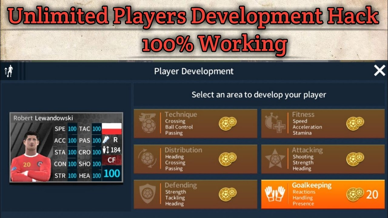 Unlimited Players Development in Dream League Soccer 2019 | 100% Working |