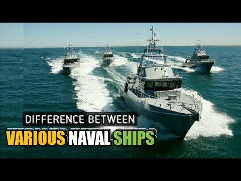 Difference Between Frigates, Corvettes, Destroyers & Cruisers Explained - Various Naval Ships(Hindi)