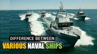 Difference Between Frigates, Corvettes, Destroyers & Cruisers Explained   Various Naval Ships(hindi)