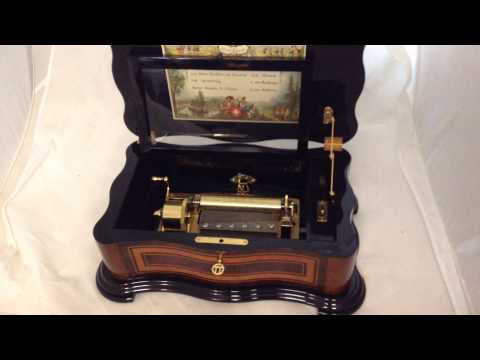 Vintage Reuge 60 Note 4 Tune Lever Wound Music Box