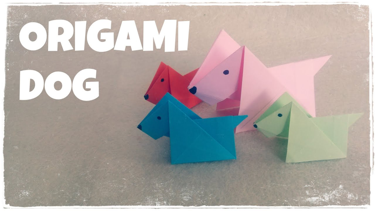 Origami For Kids Origami Dog Tutorial Very Easy Youtube