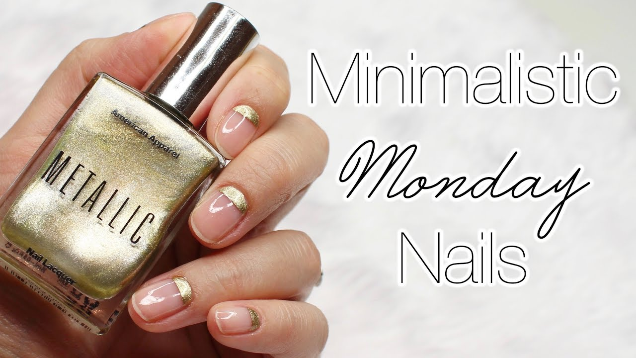 Minimalistic Monday No. 26 | Gold Cuticles Nail Art ♡ - YouTube