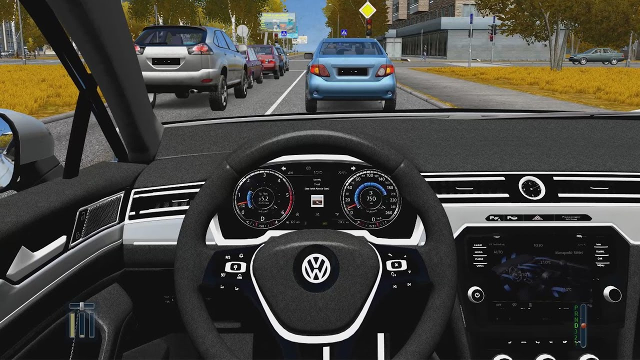 city car driving - volkswagen passat variant | fast driving - youtube