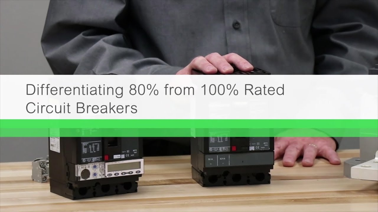 Comparing 80% and 100% Rated Circuit Breakers
