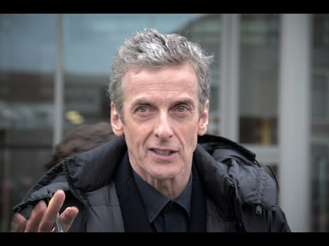 Doctor Who Filming Series 8 - Doctor and Clara at Karabraxos