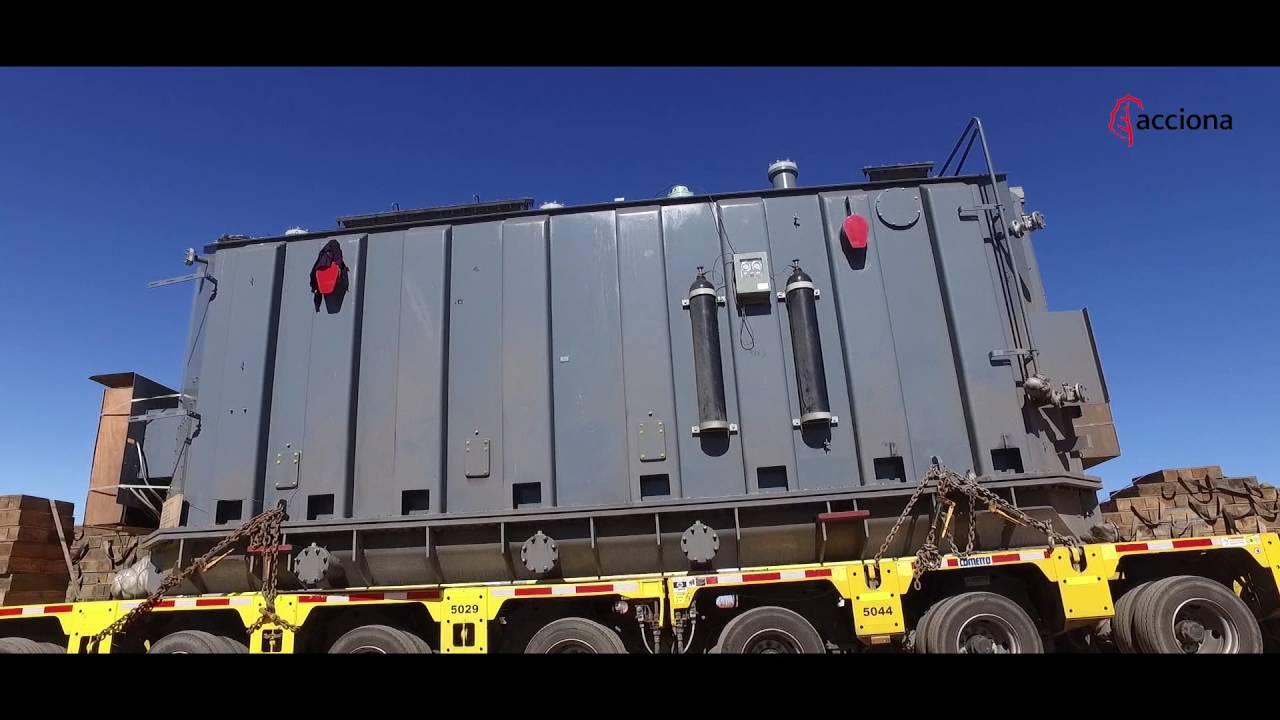 Llegada del transformador a la planta fotovoltaica de Atacama, Chile | ACCIONA