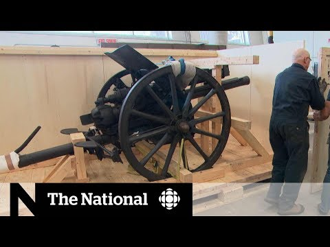 Cannon from First World War gifted to Canada