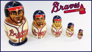 Russian Nesting Dolls Atlanta Braves Baseball Players 1994