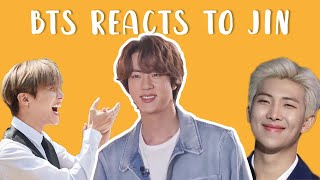 bts reacts to jin | 방탄소년단 석진 p12