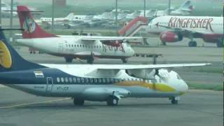 Jet Airways Konnect ATR-72 and Kingfisher Airlines ATR-42 Parallel Taxiing at Delhi IGI Airport
