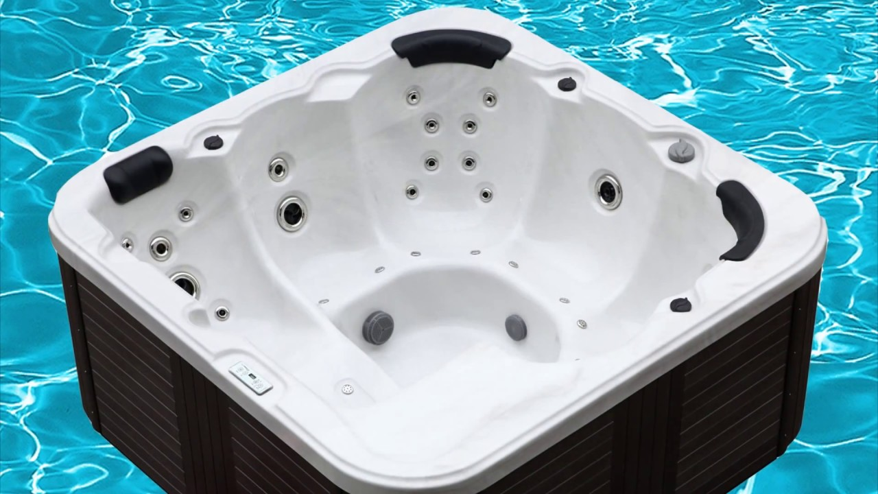 Outdoor Whirlpool Hot Tub Venedig mit 44 Massage Düsen Heizung Ozon ...