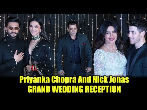 FULL VIDEO Priyanka Chopra And Nick Jonas GRAND RECEPTION PARTY | Salman, Katrina, Ranveer, Deepika