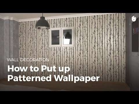 Hanging Patterned Wallpaper | DIY Projects
