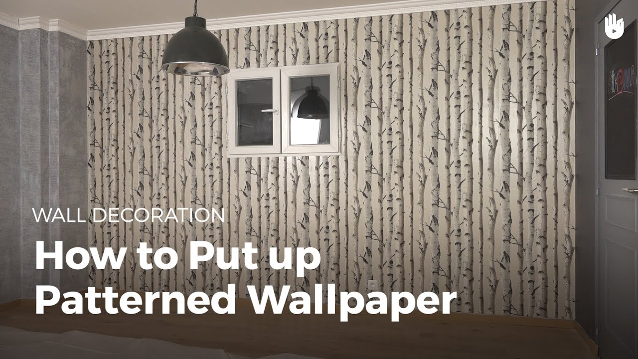 Hanging Patterned Wallpaper