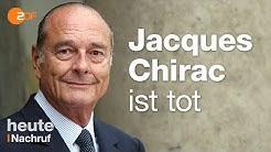 Europäer, Staatsmann, Präsident: Frankreich trauert um Jacques Chirac
