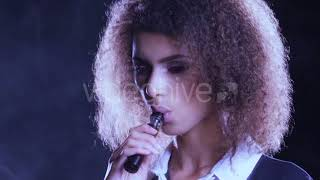 Gorgeous Sexy Young Woman Listening To Music - (lifestyle) Stock Footage   Mega Pack +40 items