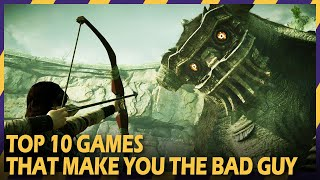 TOP 10 GAMES THAT MAKE YOU THE BAD GUY | #ZOOMINGAMES