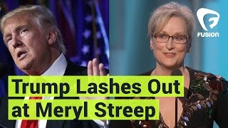 Donald Trump Lashes Out at Meryl Streep
