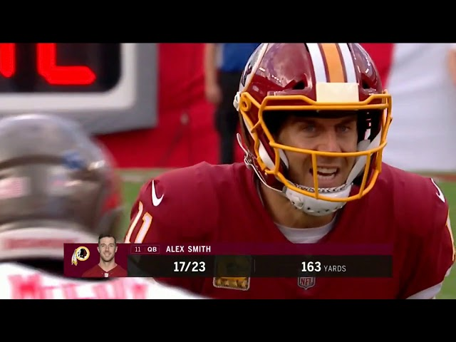 8e68fd0cb Redskins Alex Smith pass TD to 18 Doctson against Tampa Bay Bucs