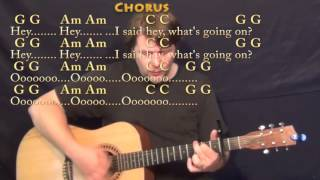 Download Mp3 What's Up  4 Non Blondes  Strum Guitar Cover Lesson With Chords/lyrics - Cap