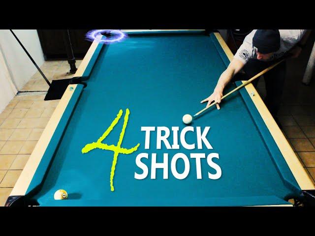 4 Pool Trick Shots: Volume 13